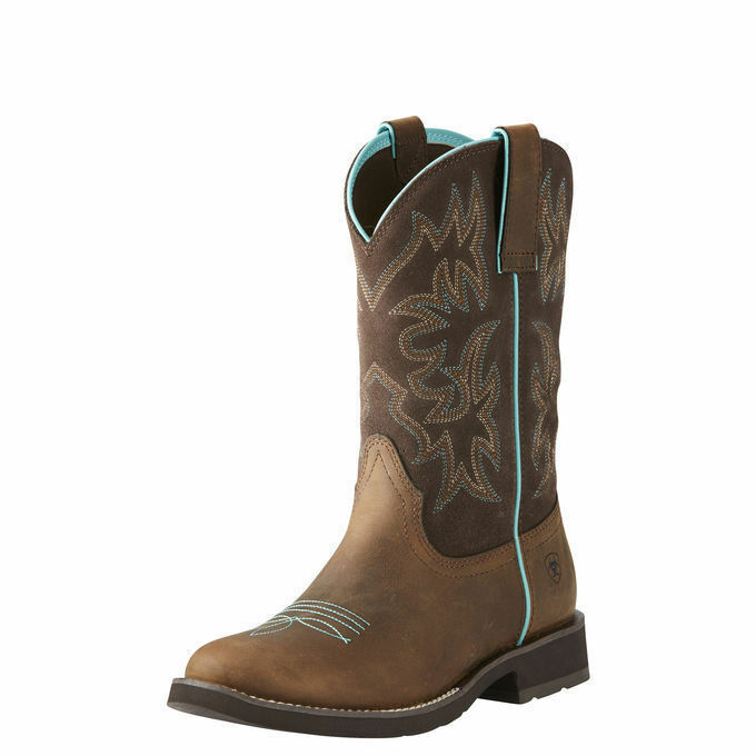Ariat 10021457 Depurpleh Round Toe 10  Two Tone Western Cowgirl Riding Boots