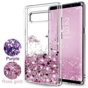 meet b05b2 868fd Details about Cute Liquid Bling Glitter Design Case Soft TPU Cover For  Samsung Galaxy Note 9 8