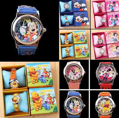 New Cute Fashion Princess Cartoon Children Analog Quartz Wrist Watch Kids Gift