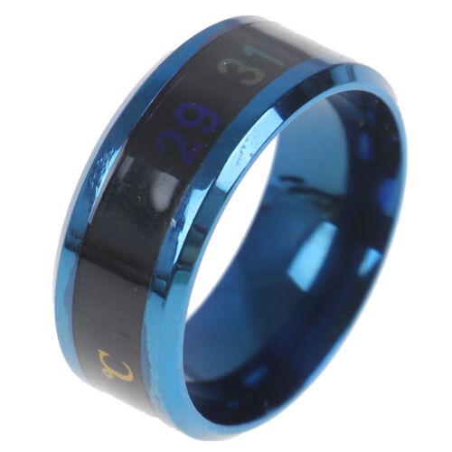 Temperature Ring Titanium Steel Mood Emotion Feeling Intelligent Rings SK
