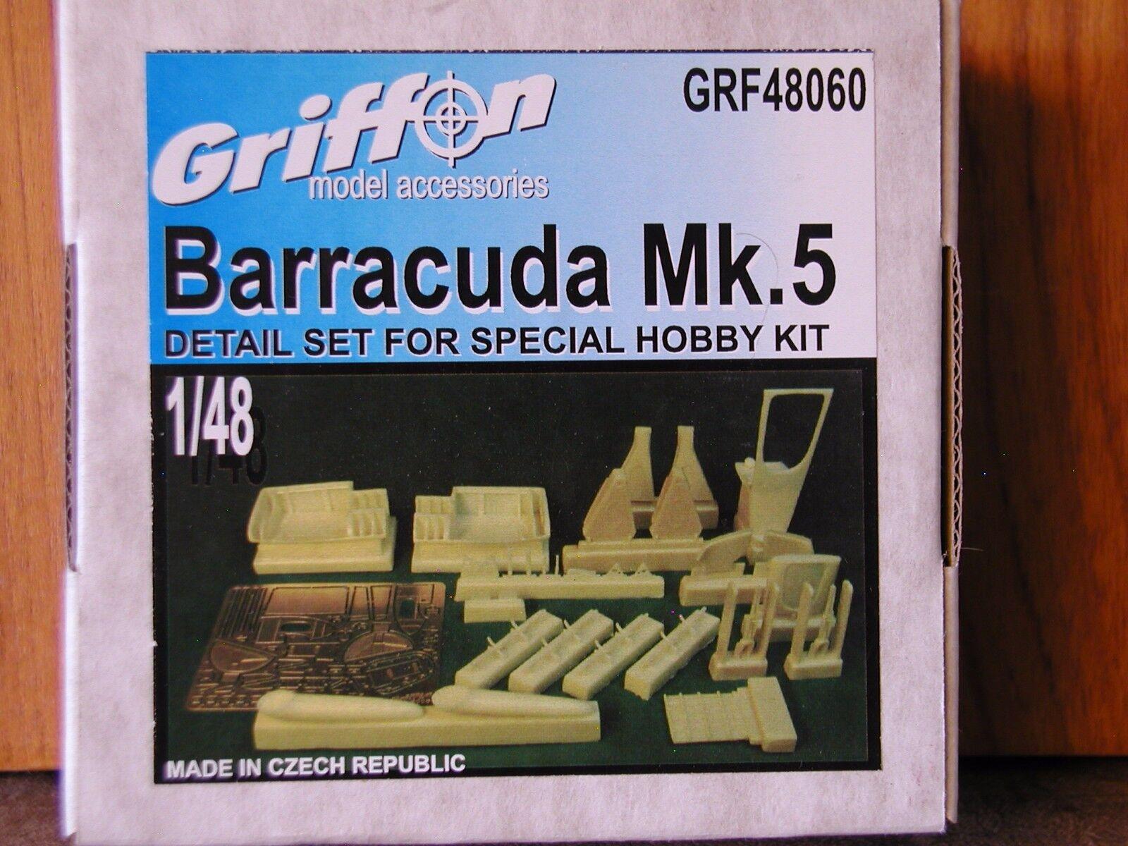 1 48 Griffon FAIREY BARRACUDA Mk.V Detail Set Resin & Photo Etch NEW OOP rare