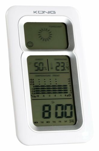 Display Konig Weather station with Date Alarm function