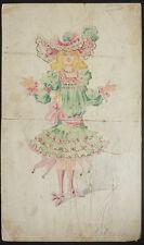 Dessin Projet de costume pour opéra théâtre vers 1900 par MINON ou CHOUBRAC