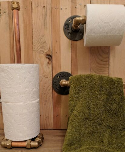 Copper Amp Bronze Premium Handmade Toilet Roll Holder