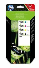 GENUINE ORIGINAL HP 940XL Ink Cartridges Black Cyan Magenta Yellow C2N93AE 8500