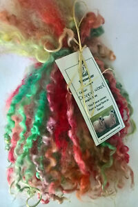 Teeswater Locks in Dragons wood for Doll Making and Spinning 1 oz (28.4g)