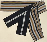 Navy And Gold Men's Cotton Tanzen Obi For Yukata Kimono Made In Japan