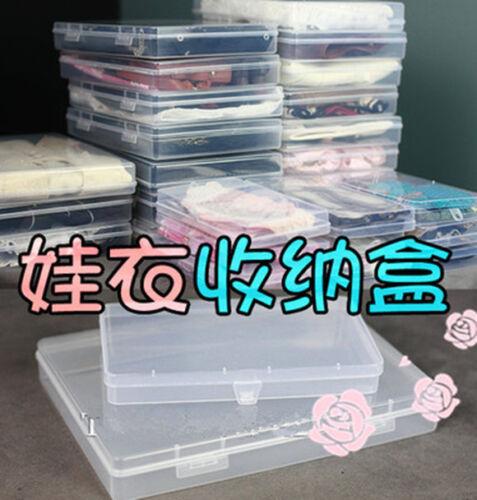 New1//6 1//8 Doll Clothes Storage Box B 17.6 x10 x2.2cm Plastic Case BJD Accessory