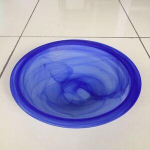 Glasschale-Brunnenschale-Nebler-Schale-Allzweck-Schale-Glas-Deko-40cm-H-8cm