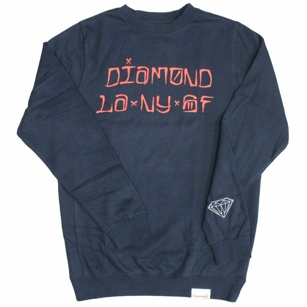 Diamond Supply Co Cities Sweatshirt Blau