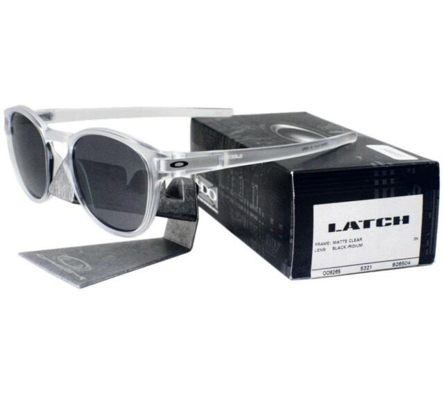 Oakley Oo9265 9265/04 Matte Clear Frame Black Iridium Lens ...