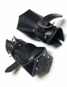REAL LEATHER PADDED MITTS ADULT PUPPY GAY BONDAGE LOCKABLE FREE P/&P UK
