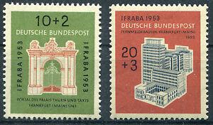 Bund-Nr-171-172-sauber-postfrisch-IFRABA-BRD-1953-Frankfurt-Michel-50-00