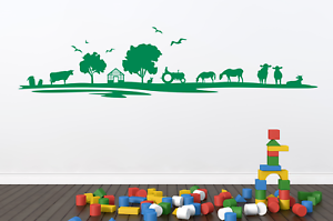 Any colour Farm Ranch Skyline Cow Horse Cattle Tractor wall decal sticker art