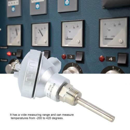 "RTD PT100 Steel Temperature Sensor Probe 1//2/"" NPT Thread Thermocouple 200~420°"