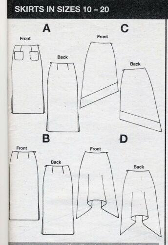 Fácil falda A-Line Recto Pañuelo prima patrón de costura 10 12 14 16 18 20