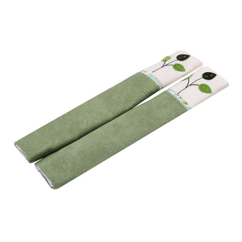 2pcs Fridge Door Handle Cloth Cover Protect Clean Oven Kitchen Home Decor FS
