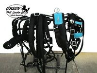 Miniature Show Teal Blue Turquoise Work Drawn Driving Horse Cart Nylon Harness