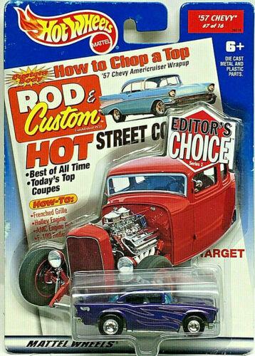 Rrs Hot Wheels Objetivo Exclusivo Editor/'s Elección /'57 Chevy Con Violeta