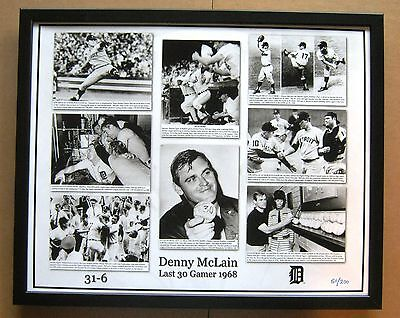 Denny McLain Last 30th Gamer Photo Collage 1968 Tigers Framed - unsigned photo