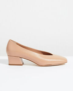 Jigsaw Paloma Block Heel Pumps Womens New Cream Nude