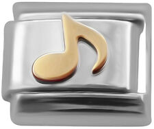 Single music note Italian Charm - classic 9mm link   (P34)