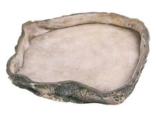 Large Reptile Feeding Rock Bowl for Food & Water Terrarium Decoration Dish