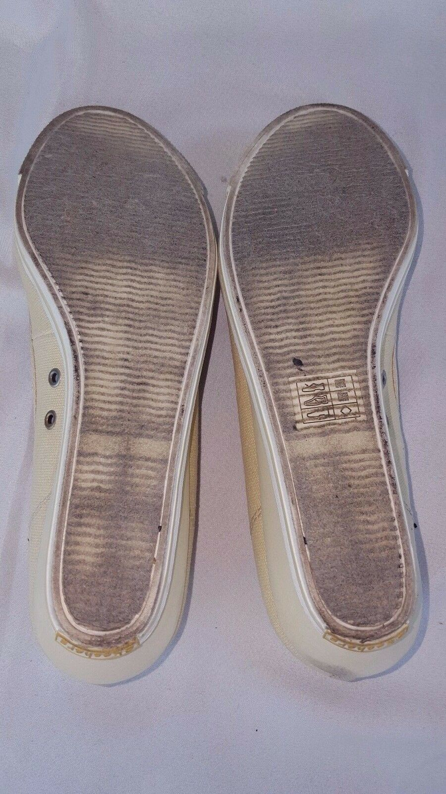 Skechers Cream Cali Slip On On On Canvas shoes Women's size 7.5 12a7a4