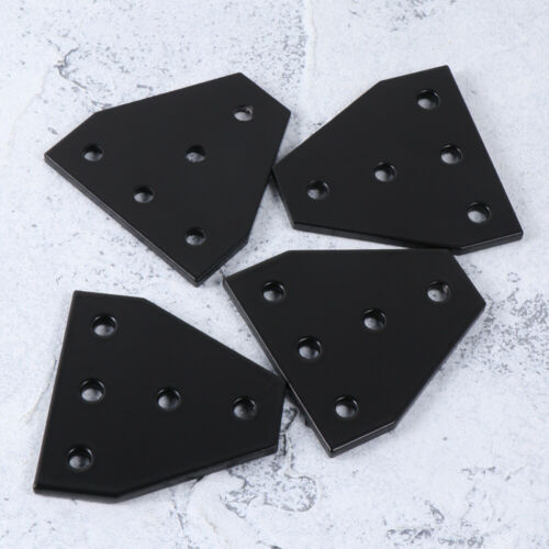 Joining Plate T Shape Aluminum Alloy Durable 5 Hole Joining Plate for 3D Printer