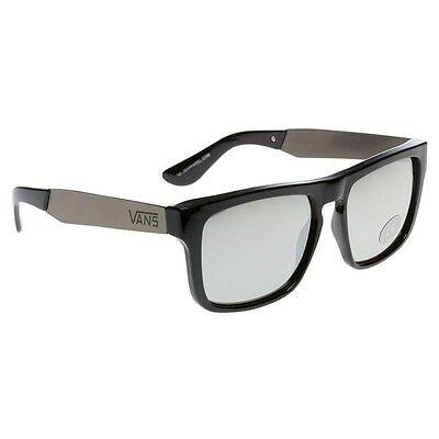 New Mens Vans Black Squared Off Polycarbonate/Metal Sunglasses