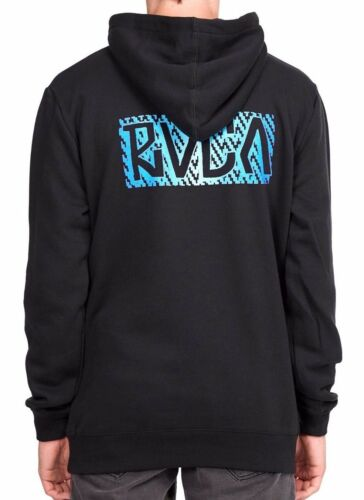 Mens King of RVCA Black Pullover Hoodie NWT RRP $79.99 Hooded Jumper Size M