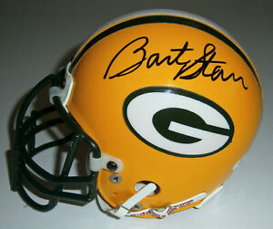 PACKERS-Bart-Starr-signed-mini-helmet-JSA-COA-AUTO-Autographed-Green-Bay-HOF