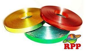 3 x 25m Christmas Curling Ribbon Metallic Gold, Green ...