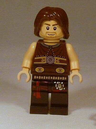 Lego Male Minifigure x 1 Boy Man with Black Hair /& Red Brown Dual Sided Face
