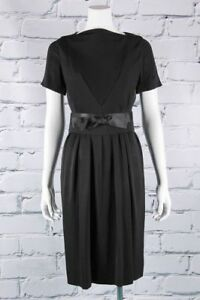 VTG-50s-GLAM-Black-ADELE-SIMPSON-Pencil-BOMBSHELL-Pin-Up-WIGGLE-DRESS-XS-S