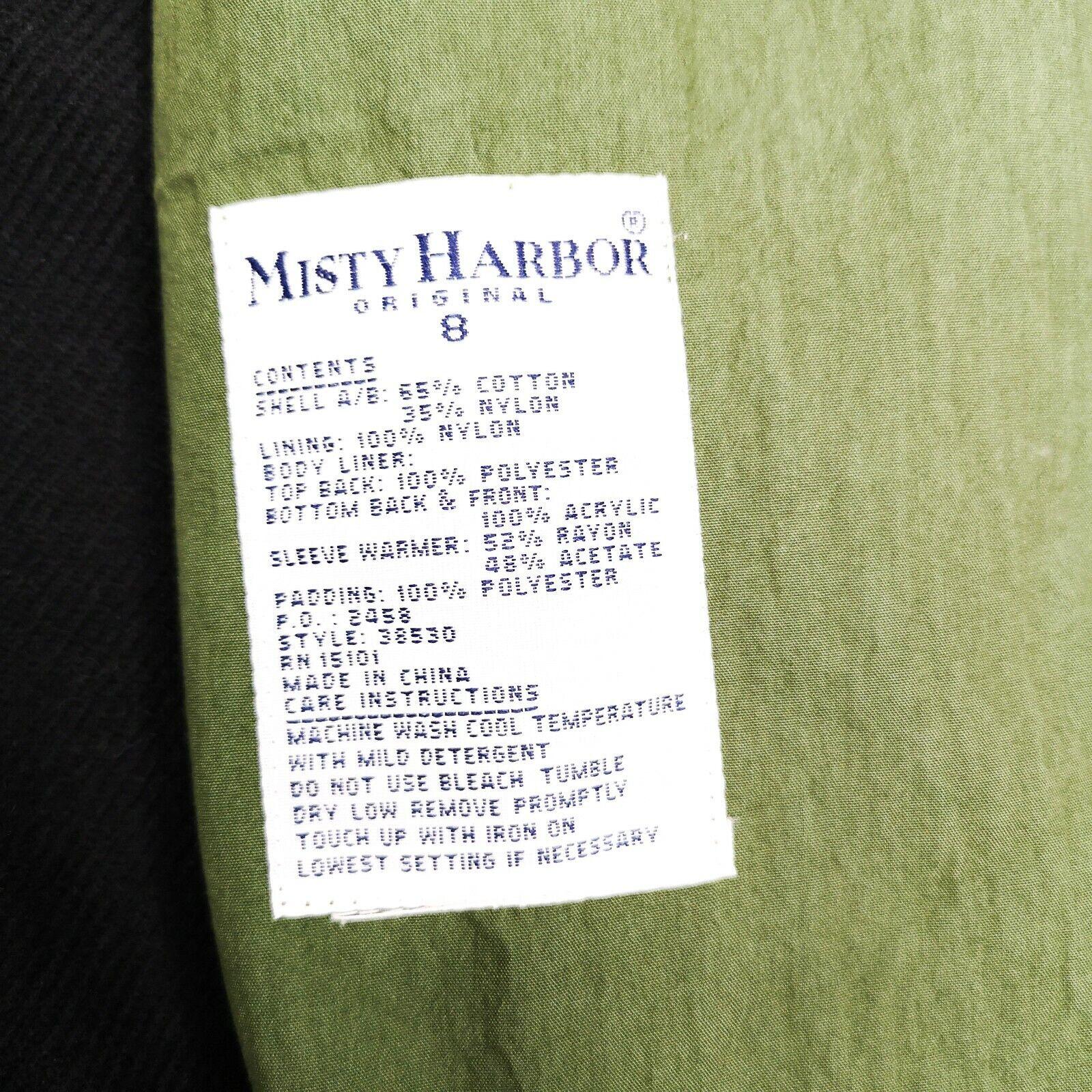 MISTY HARBOR Trench Coat Jacket 8 Olive Green - image 4