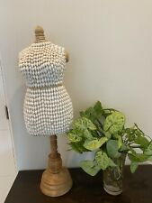 Unique Boho Chic Dress Form Mannequin Decor 27inch Total Height Preowned