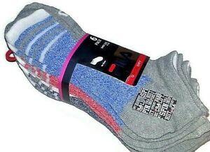 Fila 6 PAIRS Womens Quarter Socks Shoe Size 4-10 NEW black ABSORBDRY