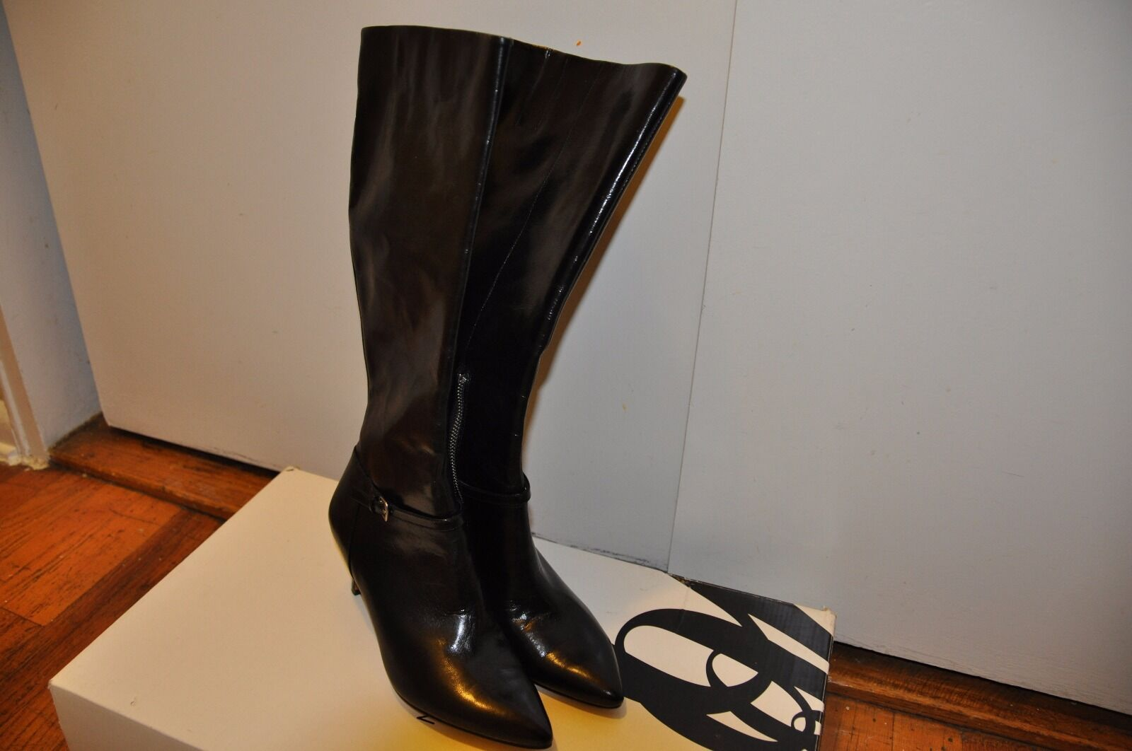 NEW Nine West  Pointed Toe Leather High Boot 6.5 M