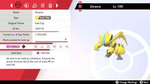 PERFECT-6IV-UNRELEASED-EVENT-ZERAORA-Pokemon-Sword-amp-Shield-FAST-DELIVERY