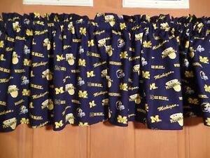 Details about NCAA Michigan Wolverines Sports Team Bedroom Window Curtain  Valances Blue/Yellow