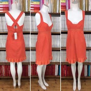 FRENCH-CONNECTION-vestido-en-encaje-ingles-Ojal-Coral-Verano-UK-10-nos-6