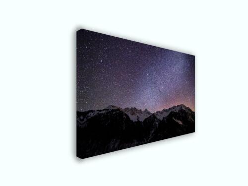 Milky Way Stars in Hinterstein Nature Photography Canvas Print Art Decor Wall
