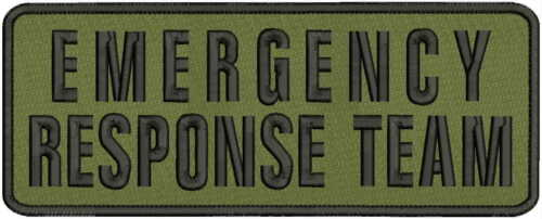 emergency response teamembroidery patches 4x11 hook on back