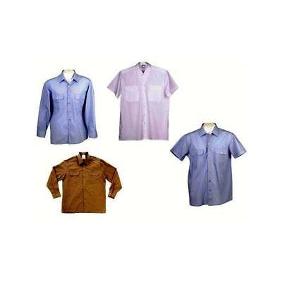 10 X10 X Bw Camicia Servizio Azzurro Bianco Manica Corta Manica Lunga Gebr Modellazione Duratura