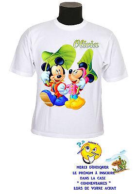 tee shirt enfant mickey minnie personnalisable prénom réf 153