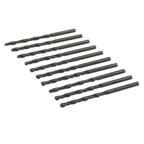 HSS Metric Jobber Drill Bits 10 Pack 1-8mm Metal Steel Wood Plastic Silverline