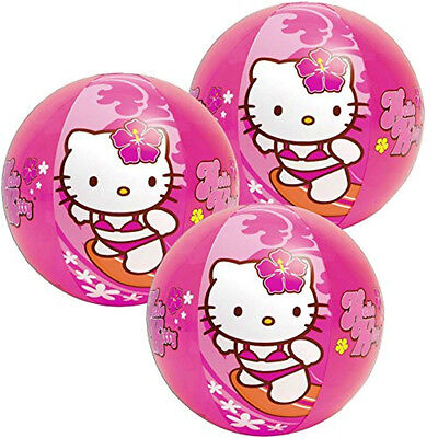 12 Intex Hello Kitty Sanrio Inflatable 20 Pool Beach Balls