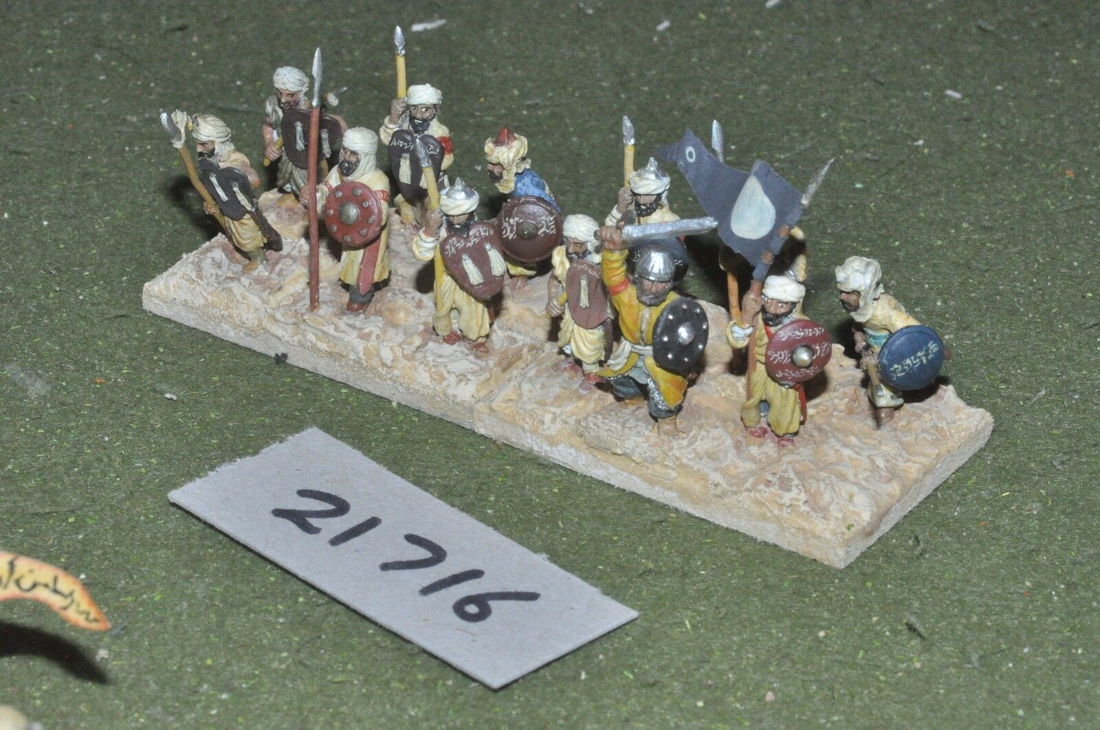 25mm dark ages   arab - empire spearmen 12 figs infantry - inf (21716)