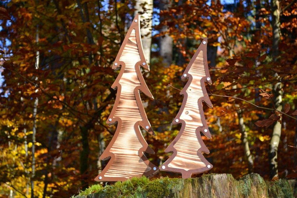 Windspiel-Fächer-Optik Edelrost-Gartendeko-Rostdeko-Baum